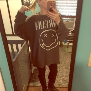 Oversized Nirvana sweatshirt L